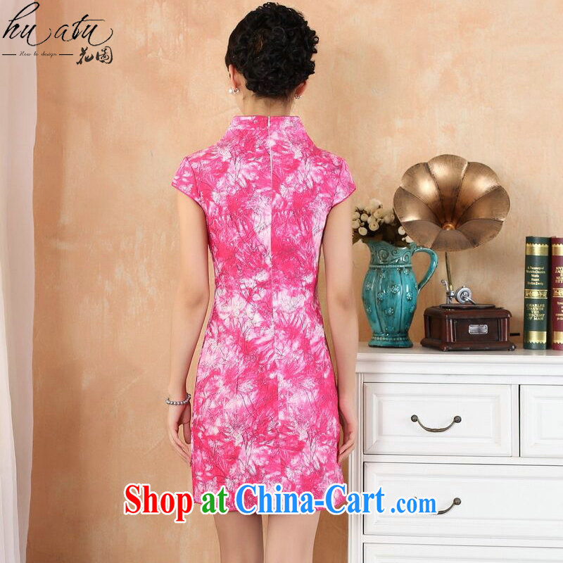 spend the summer with new female Chinese qipao Chinese improved, for stretch denim fashion short cheongsam dress as shown color XL, spend figure, shopping on the Internet