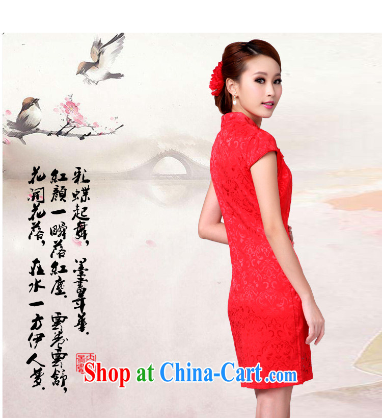 The Greek Diana, 2015 marriage toast outfit serving new summer red wedding dress high collar dress cheongsam red XL pictures, price, brand platters! Elections are good character, the national distribution, so why buy now enjoy more preferential! Health