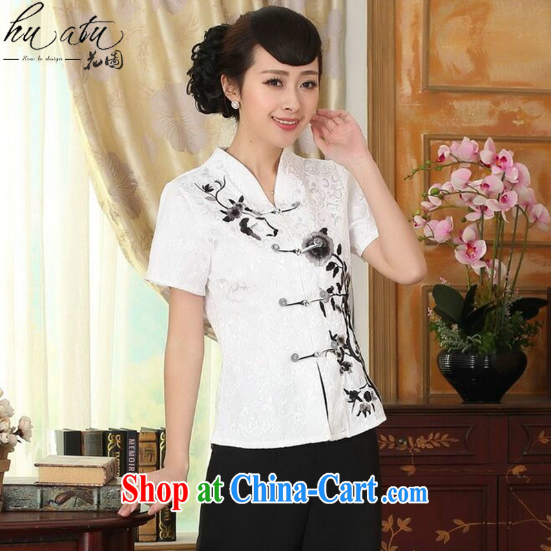 spend the summer, new outfit, Ms. T-shirt Chinese improved national wind blouses embroidered tray snap Tang replace such as the color 2 XL