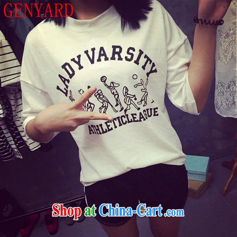 Qin Qing Korea summer new women in solid cuff shirt Korean version 5 sub-cuff stamp bat sleeves shirt T female gray-green color are code