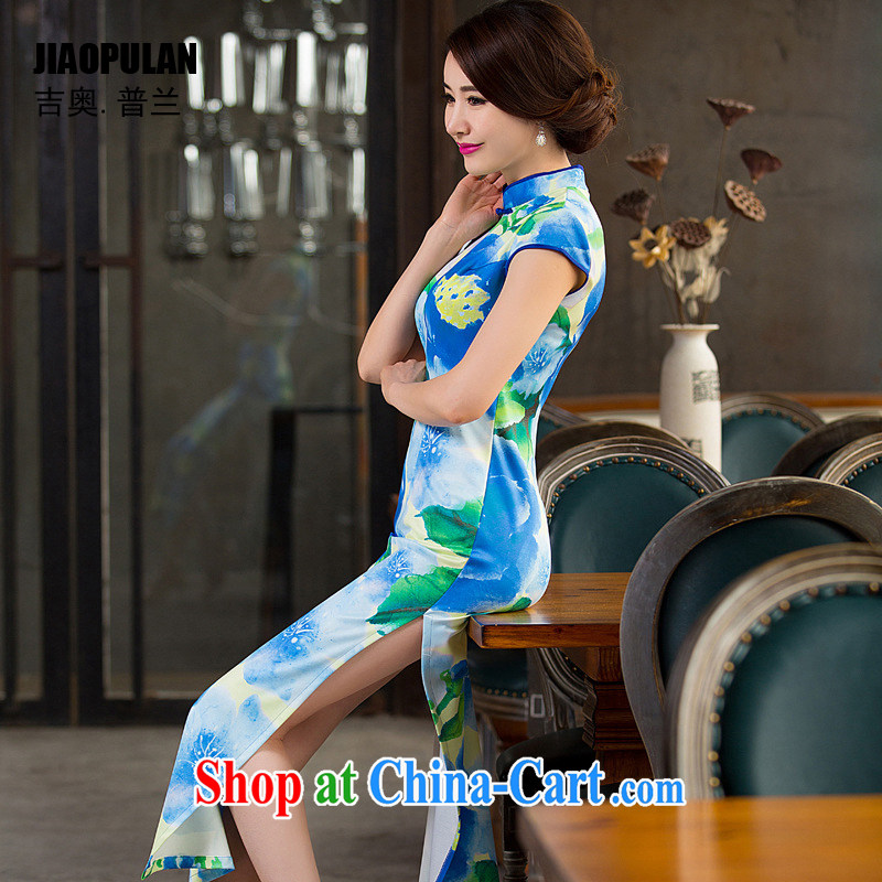 Mr. Kaplan 2015 spring and summer new cheongsam stylish improved sense of beauty long cheongsam dress PL 237 photo color 237 XXL