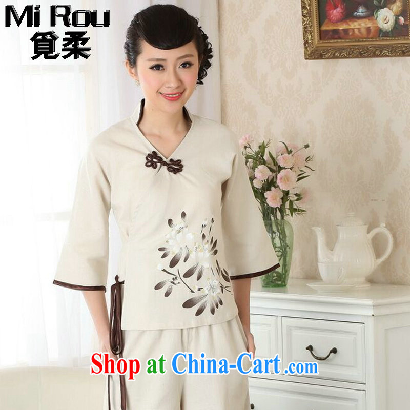 Find Sophie summer wear new dresses T-shirt cotton the linen Chinese Ethnic Wind blouses Tang discs for improved version click T-shirt 2XL