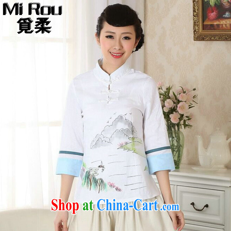 Find Sophie new summer hand-painted dresses T-shirt, cotton clothes the Chinese nation, women leaders, Tang is improved as the color 2 XL