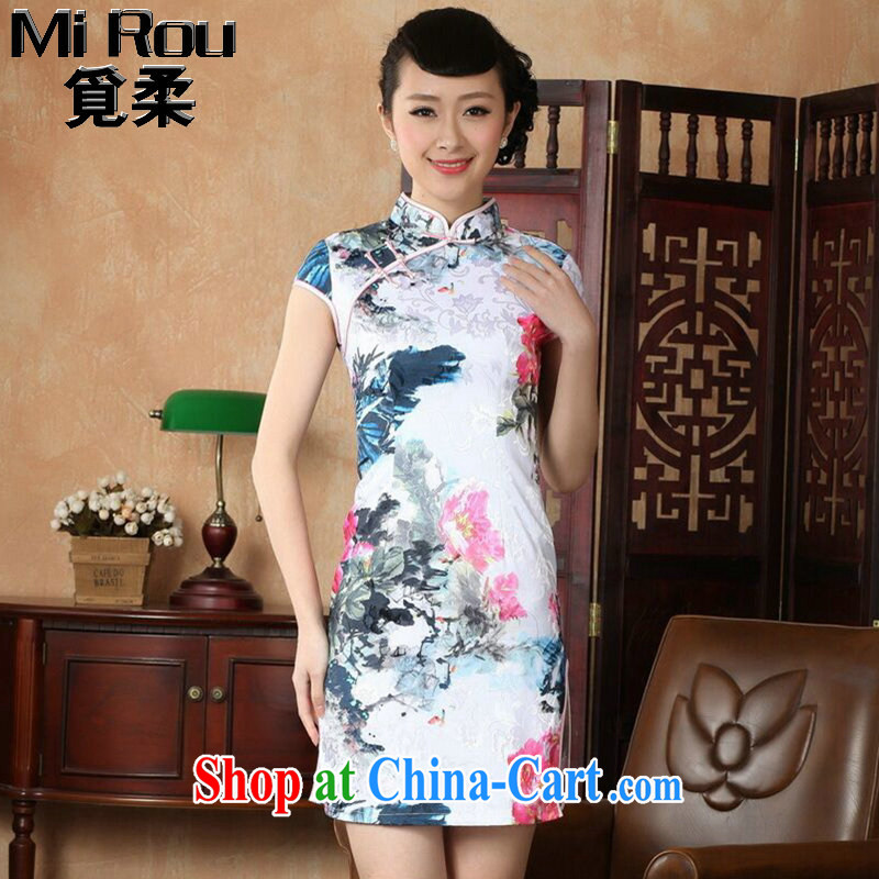 Find Sophie summer new women dresses with improved Chinese qipao,Chinese, Chinese ink painting for cotton short dresses such as the color 2 XL