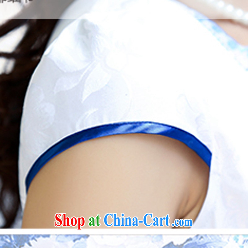 2015 new suit Daily High jacquard cotton robes spring and summer retro fashion beauty dresses dresses women 5931 blue flower L, ballet of Asia and cruise (BALIZHIYI), and, on-line shopping