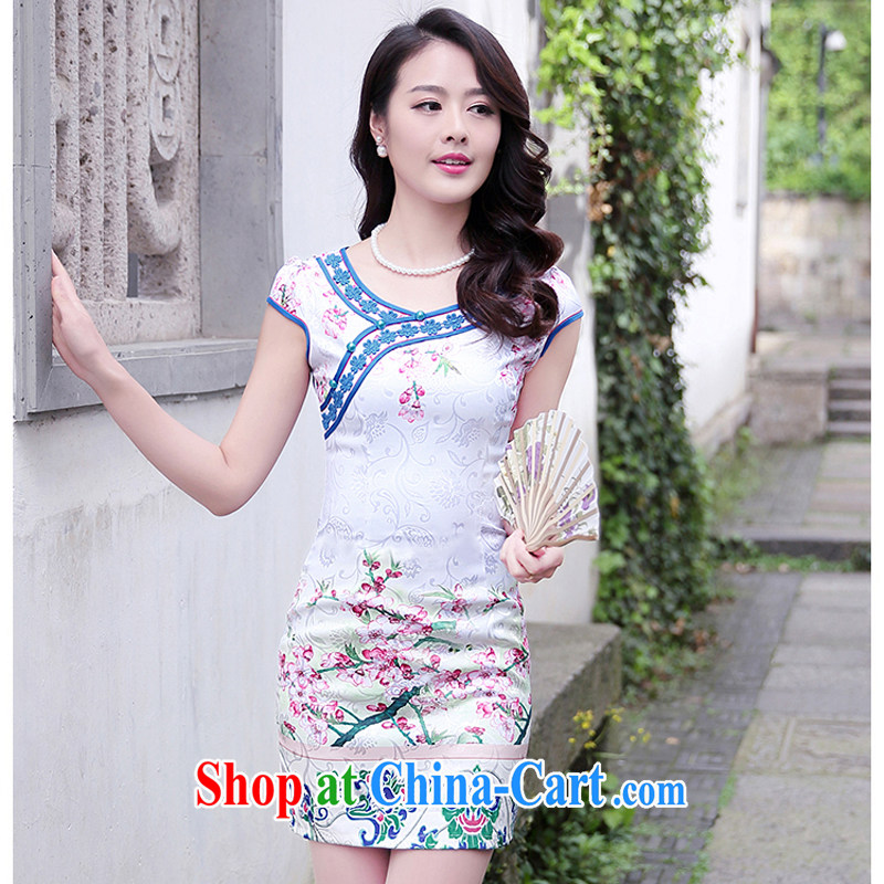 2015 new dresses and retro dresses short stylish improved dress female burglary summer Beauty Day 1515 toner Phillips M