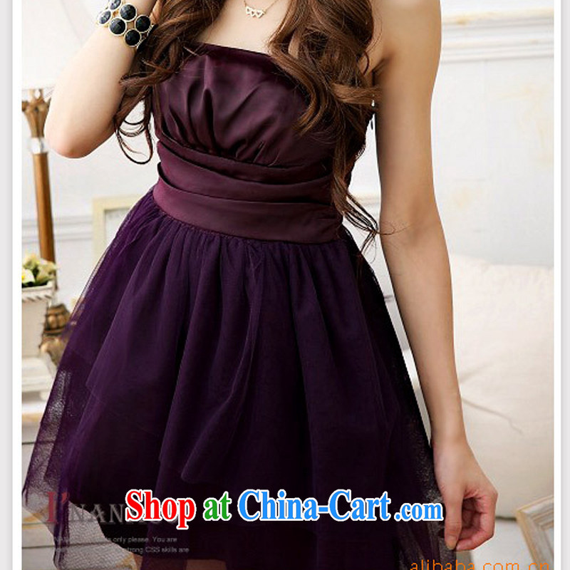 2015 new high quality Sweet Heart flat pinch Web dresses X - 302 and 8018 purple are code