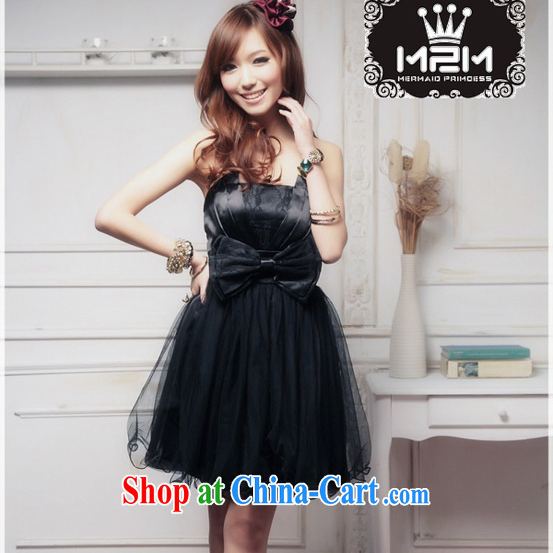 2015 elegant wiped his chest The bowtie shaggy Princess small dress XC - 3056 - B _ 1288 A black XL
