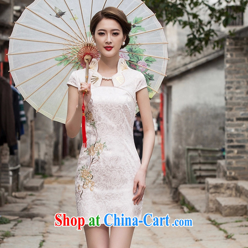 2015 new summer fashion improved cheongsam dress, Style short dress B - 518 - 1122 white M