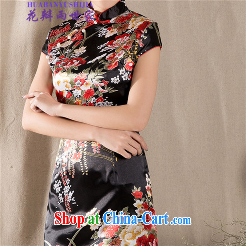 Petals rain family 2015 summer short-sleeved qipao dresses women 915 - A - 122 - 45 fancy XL