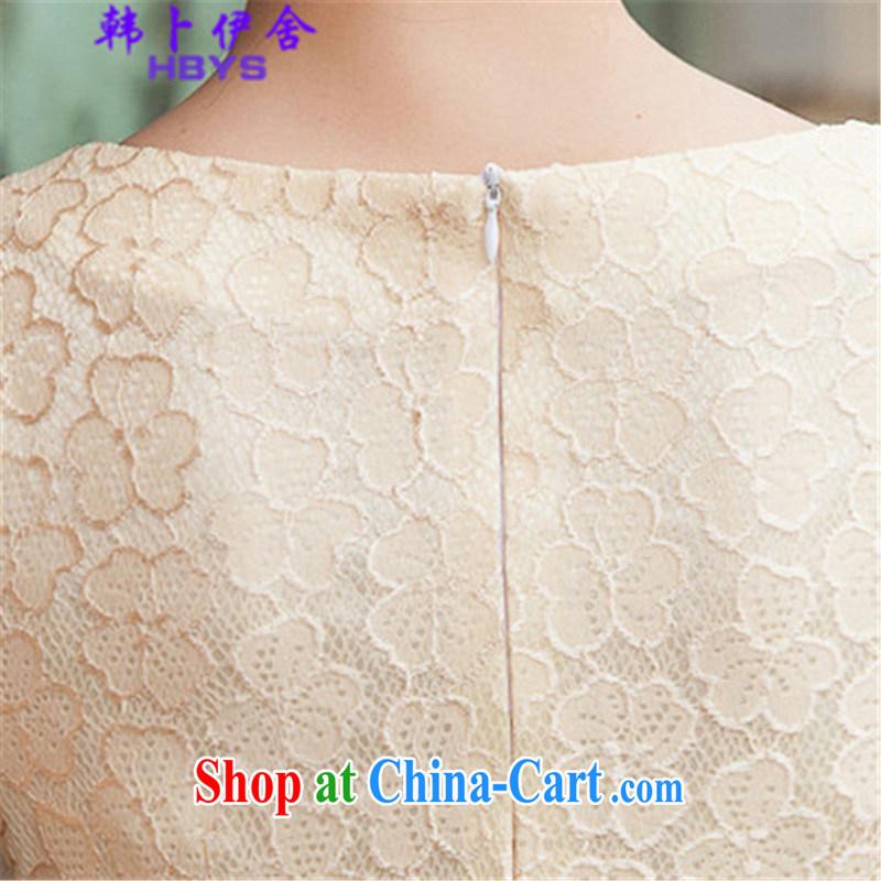The Korea House, summer 2015 lace cheongsam stylish beauty dresses, 518 - 1106 - 42 blue XL, Won Bin Abdullah al (HANBOYISHE), online shopping