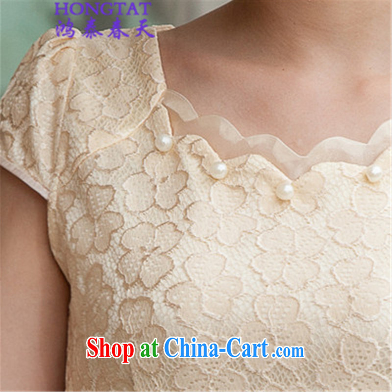 Leong Che-hung Tai spring 2015 summer lace cheongsam stylish beauty dresses, 518 - 1106 - 42 blue XL, Hung-tai spring (hongtaichuntian), online shopping