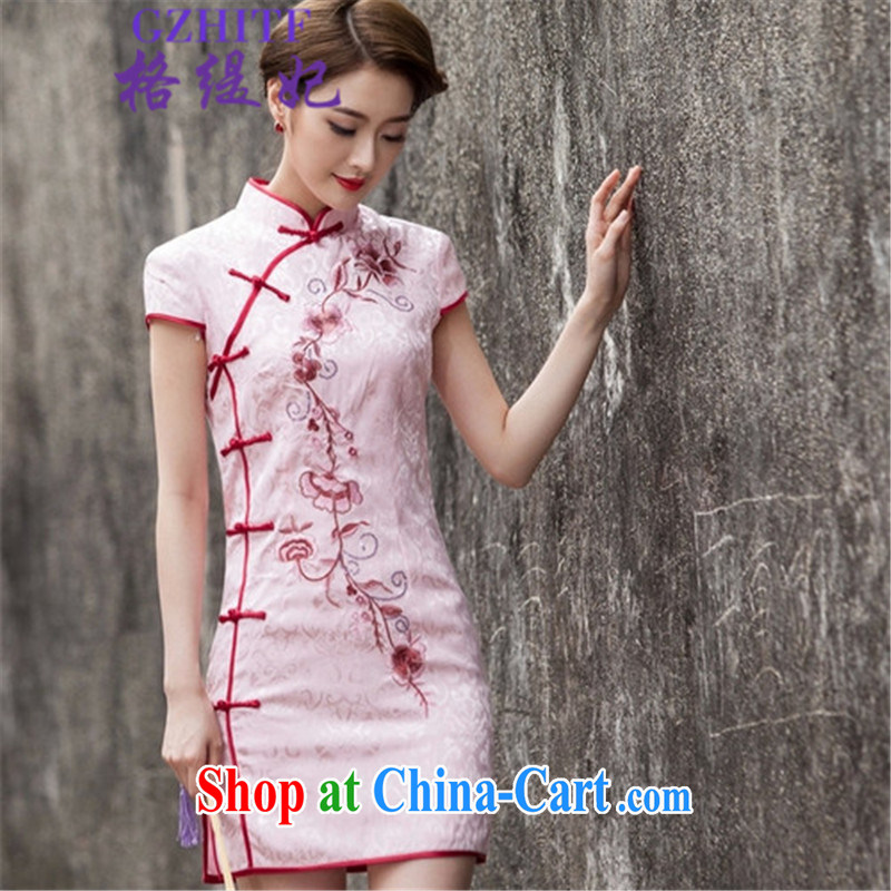 The economy as Princess Diana's 2015 summer fashion short, cultivating cheongsam dress, 518 - 1124 - 55 pink L