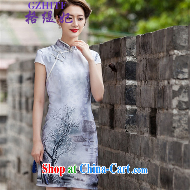 The economy's 2015 summer retro fashion China wind cheongsam Chinese 518 - 1107 - 48 photo color XL