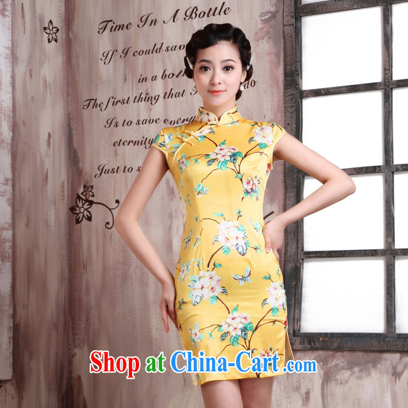 1000 Jubilee 2015 brides new summer Chinese Antique style beauty girl dress improved cheongsam X 2081 from his XXL