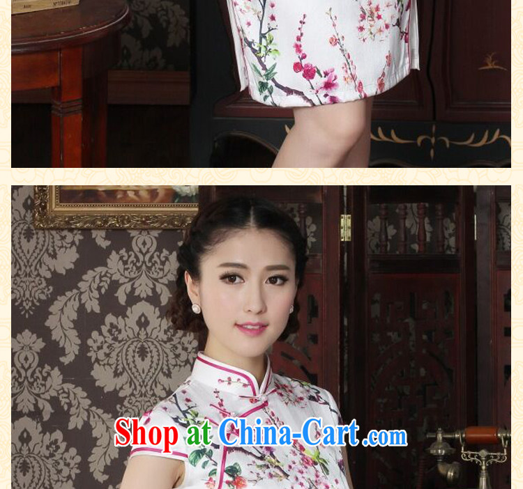 spend the summer female sauna Silk Cheongsam heavy silk Chinese improved the collar cheongsam floral daily outfit as shown color XL pictures, price, brand platters! Elections are good character, the national distribution, so why buy now enjoy more preferential! Health
