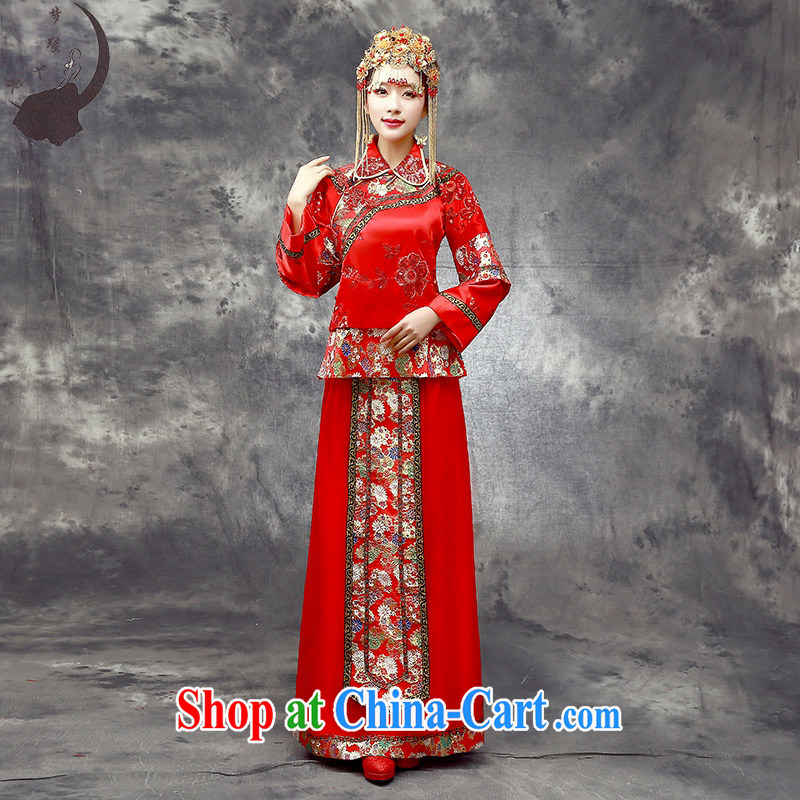 Dream of the day wedding dresses spring 2015 new bride toast wedding dress retro improved Su Wo service 8703 red tailored