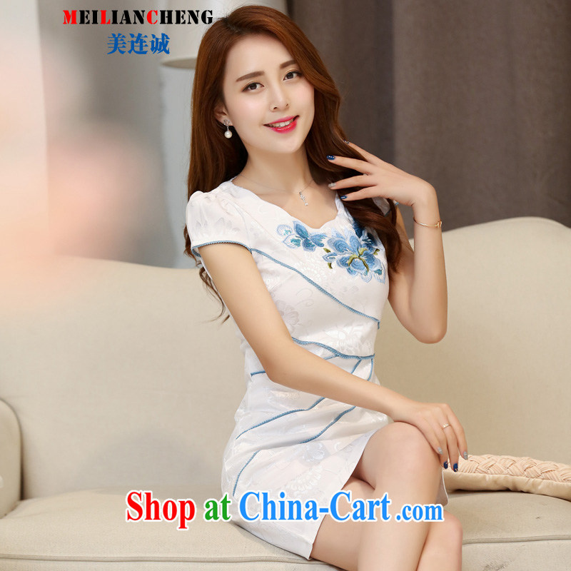 Even the US and 2015 new dresses and retro dresses short stylish improved dress female burglary summer day-dresses beauty Hester Prynne XXL