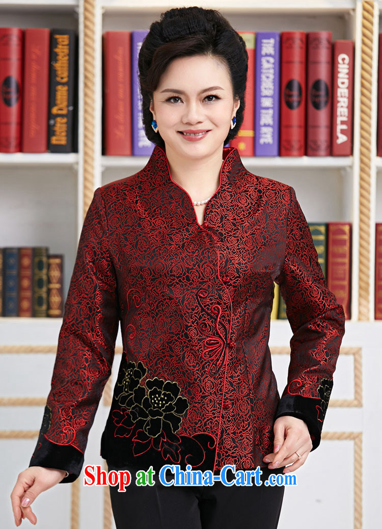 Qin Qing store new Chinese, improved Chinese Spring mother Tang red XXXL pictures, price, brand platters! Elections are good character, the national distribution, so why buy now enjoy more preferential! Health