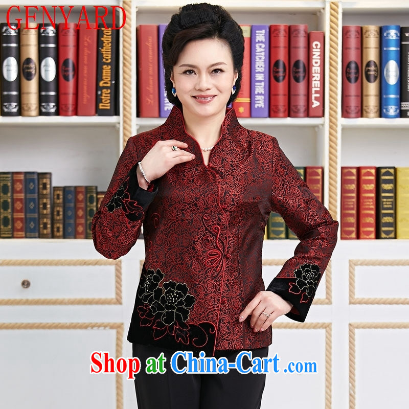 Qin Qing store new Chinese, improved Chinese Spring mother Tang red XXXL