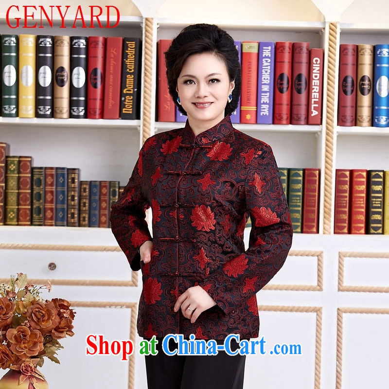 Qin Qing store Chinese female Chinese national female costumes clothing casual clothing black XXXL
