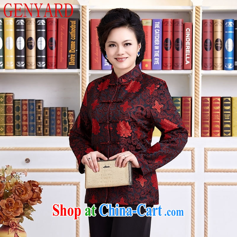 Qin Qing store Chinese female Chinese national female costumes clothing casual clothing black XXXL, GENYARD, shopping on the Internet