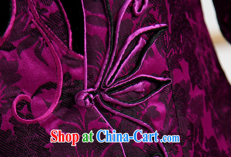 Qin Qing store embroidered short, long-sleeved T-shirt Chinese girl fall and winter for the Tang jackets T-shirt the T-shirt purple XXXL pictures, price, brand platters! Elections are good character, the national distribution, so why buy now enjoy more preferential! Health