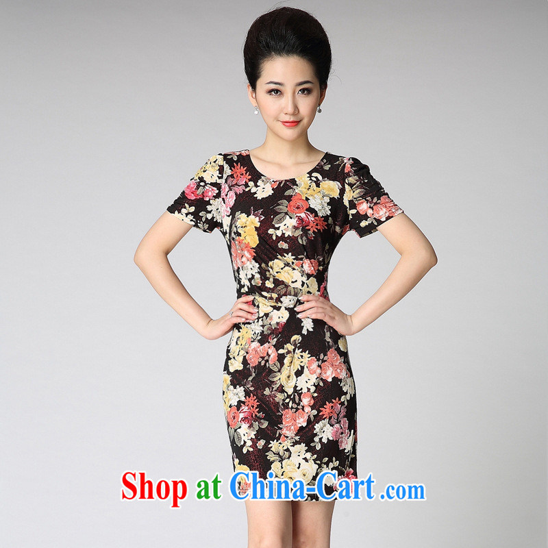 2014 new girls summer fashion, older wedding mom with XL dresses with sexy XXXL