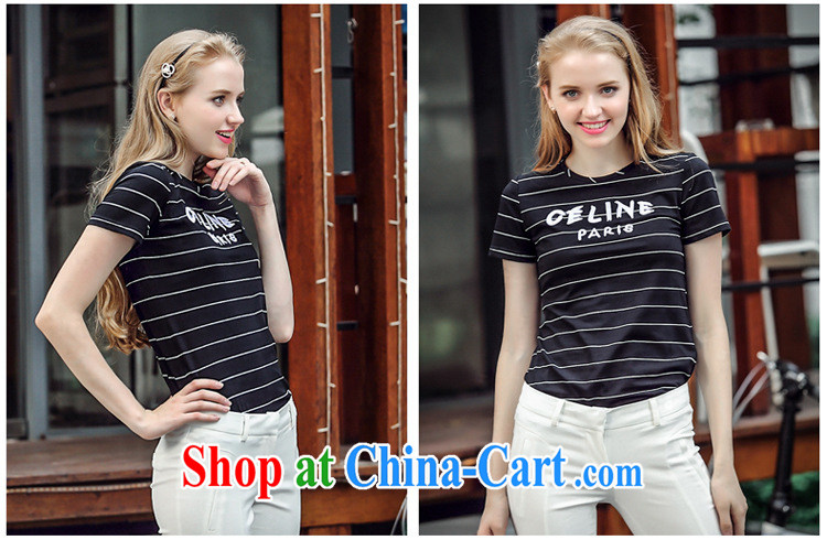 Blue rain bow in accordance with * The European site 2015 summer new female streaks letter short-sleeved T pension with beauty, 5048 N white XL pictures, price, brand platters! Elections are good character, the national distribution, so why buy now enjoy more preferential! Health