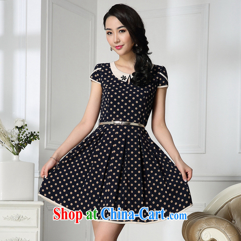 2014 new, older OL dresses mother summer load larger female picture color XXXL