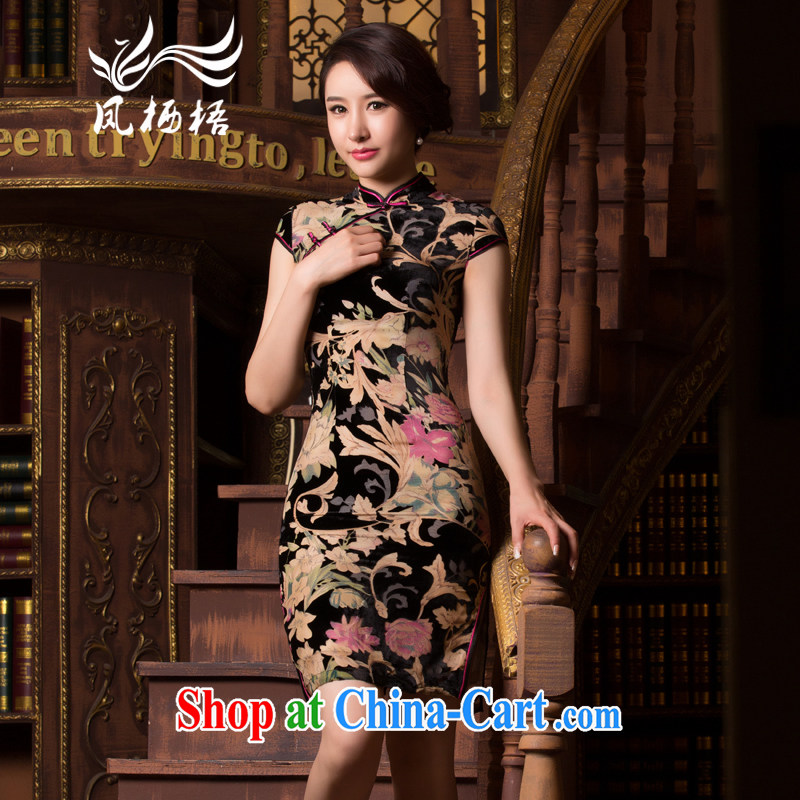 Bong-amphibious Ori-take spirit summer 2015 new retro plush robes Daily Beauty and elegant style cheongsam dress DQ 15,107 fancy XXXL