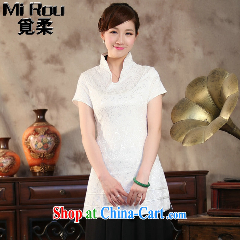 Find Sophie summer wear new clothes Chinese qipao T-shirt Chinese improved, LED light, long, short-sleeved Chinese figure color XL
