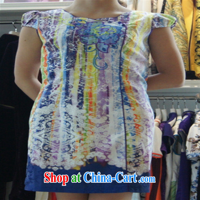 Color arts 2014 improved stylish outfit New short retro female dresses QD 4215 photo color XXL