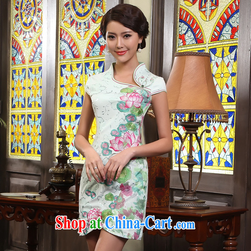 I should be grateful if you could show cheongsam_2013 new female cheongsam dress_G 611,515 picture color XXL