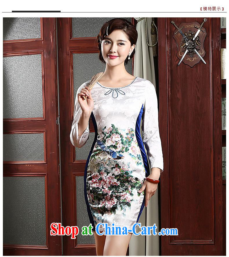 Hi-chih 2014 new cheongsam dress improved stylish daily short cheongsam dress QZ 4741 white XXL pictures, price, brand platters! Elections are good character, the national distribution, so why buy now enjoy more preferential! Health
