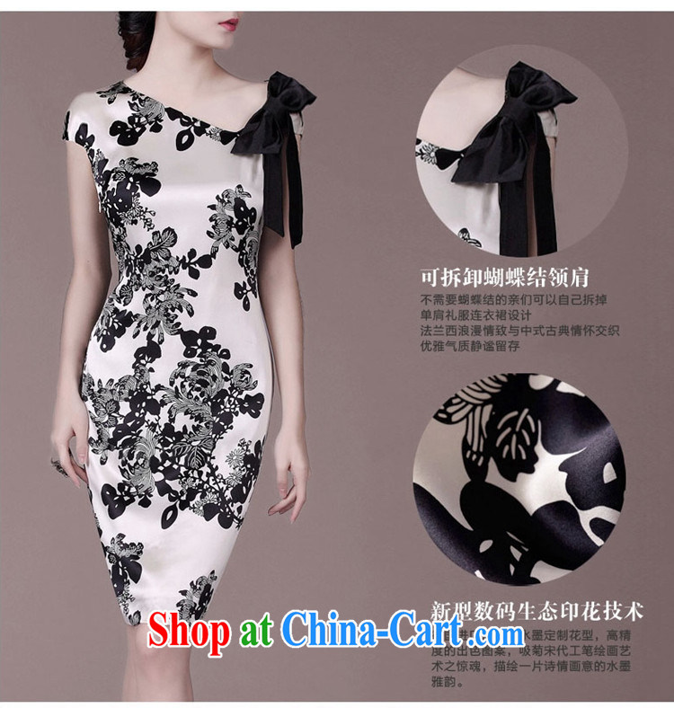 Mak luxury summer 2015 new beauty, video thin sauna Silk Cheongsam floral girl 8943 white 3XL pictures, price, brand platters! Elections are good character, the national distribution, so why buy now enjoy more preferential! Health
