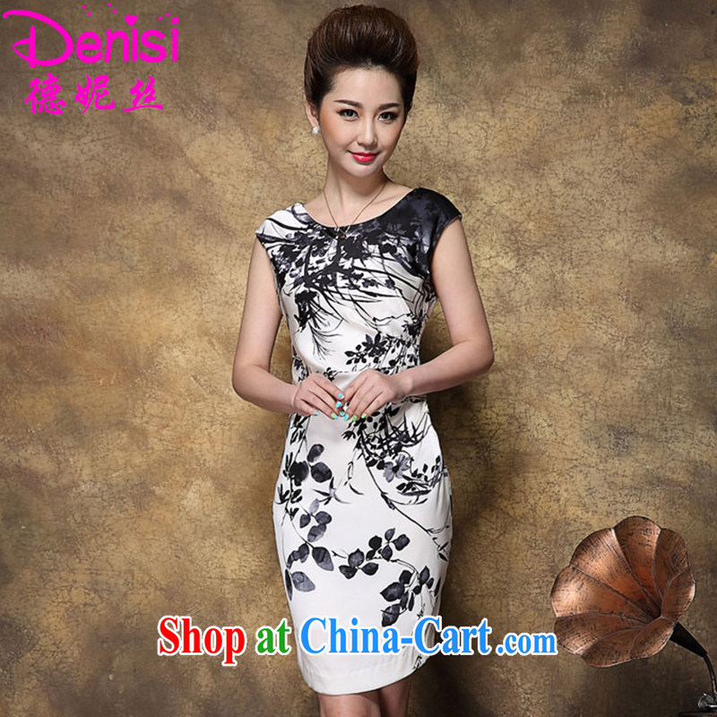 Connie, 2015, Mr Ronald ARCULLI, Silk Cheongsam stamp sauna Silk Cheongsam dress girls white L