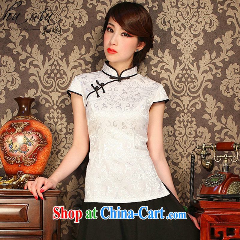 spend the summer retro Korea female youth improved Chinese Chinese T-shirt Chinese, for a tight outfit T-shirt such as the color 2 XL