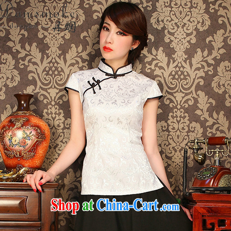 Dan smoke summer retro Korea female youth improved Chinese Chinese T-shirt Chinese, for a tight outfit T-shirt such as the color 2 XL