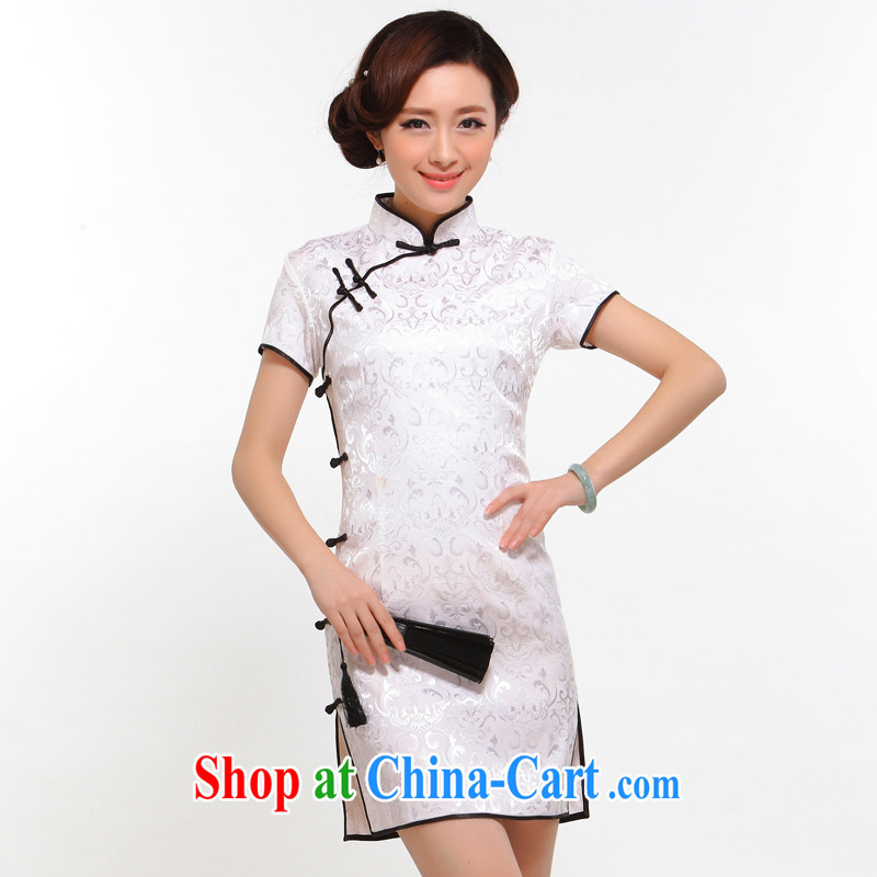 Dresses summer 2015 stylish new improved stylish dresses sexy beauty retro upscale the forklift truck cheongsam dress white L
