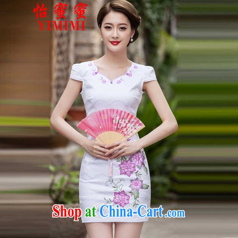 Chow honey honey 2015 new spring and summer too short, Retro dresses dresses dresses daily dress dress B - 518 - 1126 pink XL