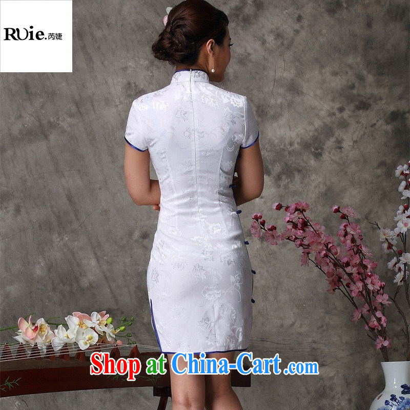 Goods Manufacturers summer new antique Chinese antique dresses daily short improved stylish dresses white XXL, health concerns (Rvie .), and, on-line shopping