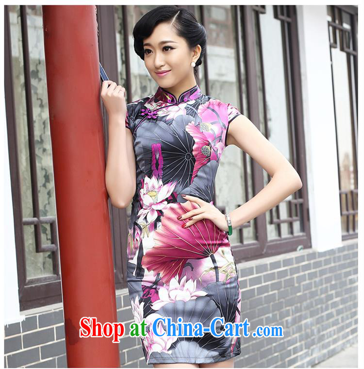 2015 spring fashion cheongsam dress improved retro upscale sauna silk Silk Cheongsam 8053 purple XXL pictures, price, brand platters! Elections are good character, the national distribution, so why buy now enjoy more preferential! Health
