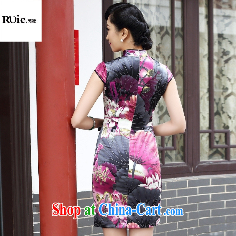 2015 spring fashion cheongsam dress improved retro exclusive sauna silk Silk Cheongsam dress 8053 purple XXL, health concerns (Rvie .), and, on-line shopping