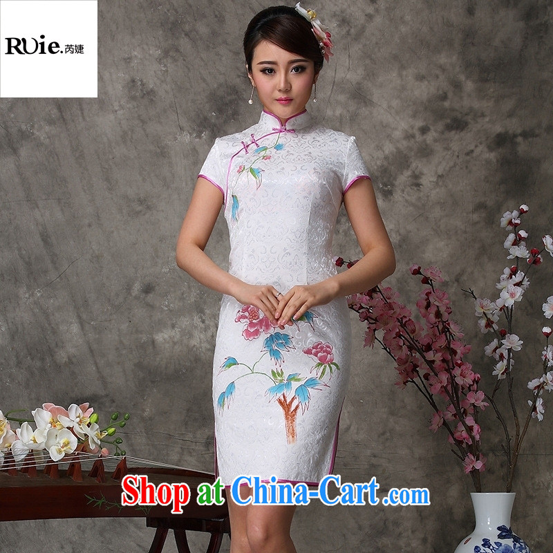Mu Lan charm new summer high-end Chinese classical beauty graphics thin robes 802 white XXL