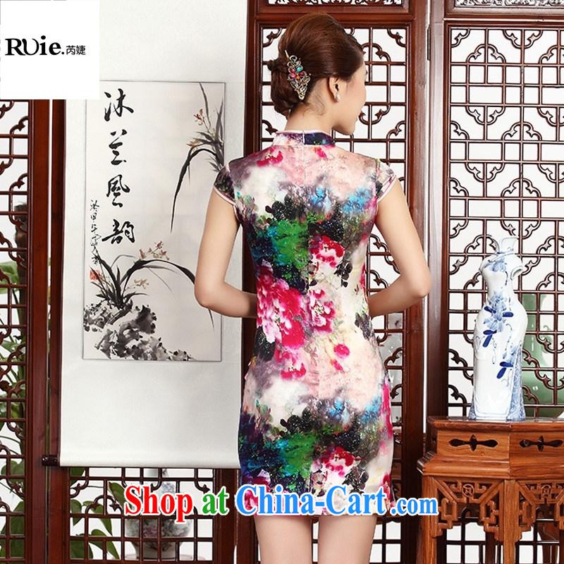 (MU, charm -- heavy silk improved short-sleeved short sauna Silk Cheongsam dress dress suit 8035 XXL, health concerns (Rvie .), and shopping on the Internet