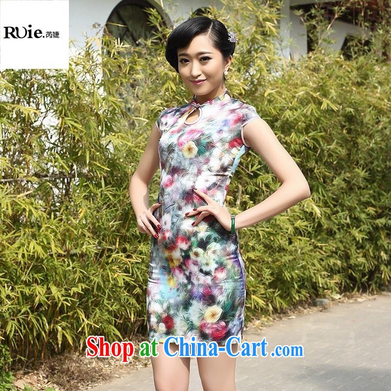 2015 spring loaded the goods manufacturers silk short cheongsam banquet style Silk Cheongsam Dress Suit XXL, health concerns (Rvie .), and, on-line shopping