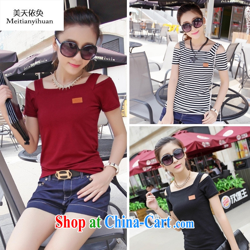 Activities in stock price 5-Color 3 summer new female Korean fashion, your shoulders graphics thin cultivating female T white XL