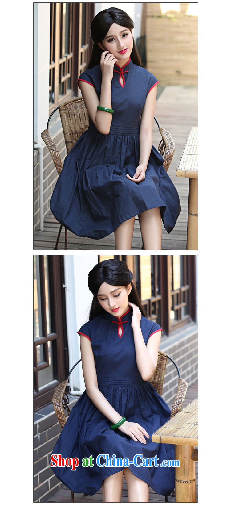 China classic original 2015 summer day, Ms. Yau Ma Tei cotton cheongsam dress improved retro art, female Red L pictures, price, brand platters! Elections are good character, the national distribution, so why buy now enjoy more preferential! Health