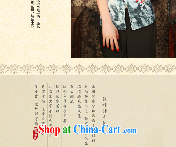Bin Laden smoke summer new, improved retro Lotus V collar, short-sleeved short manually load the Snap flowers cheongsam shirt such as the color 2 XL pictures, price, brand platters! Elections are good character, the national distribution, so why buy now enjoy more preferential! Health